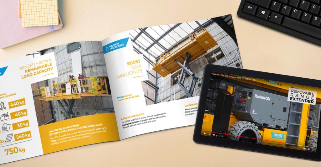 Haulotte HS15/18 E brochure & iPad - launch