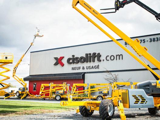 PHOTO CISOLIFT CANADA - Haulotte Cisolift extérieur nouveau logo - format web