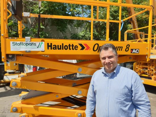 Nikos Stafilopatis Commercial Director of the first lifting company in the Greek market